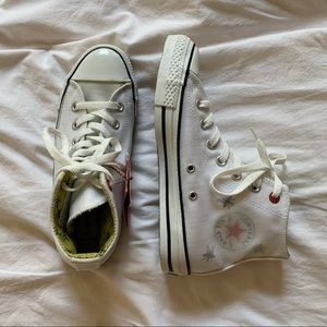 white Converse (Product) Red women's shoes